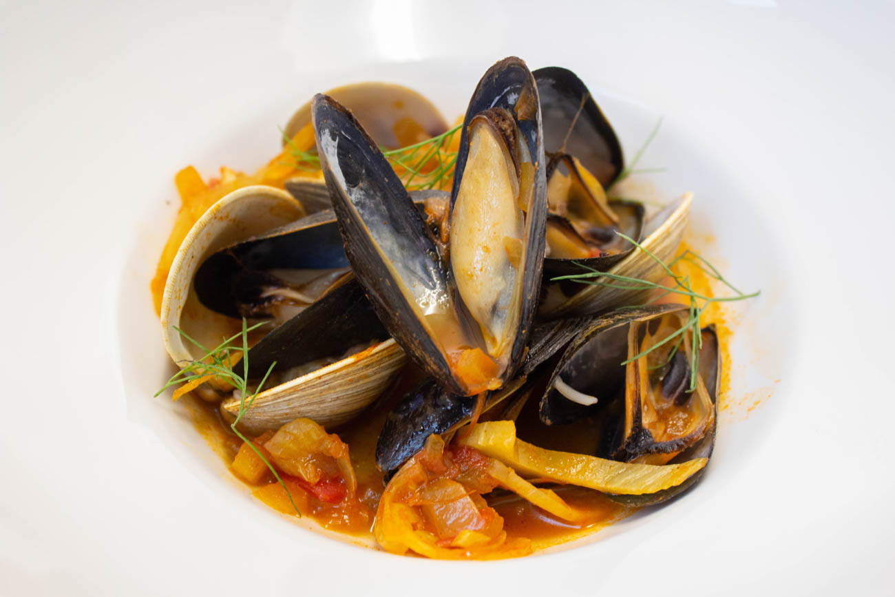 Mussels and clams in saffron broth / Image: Erin Glass // Published: 3.27.19