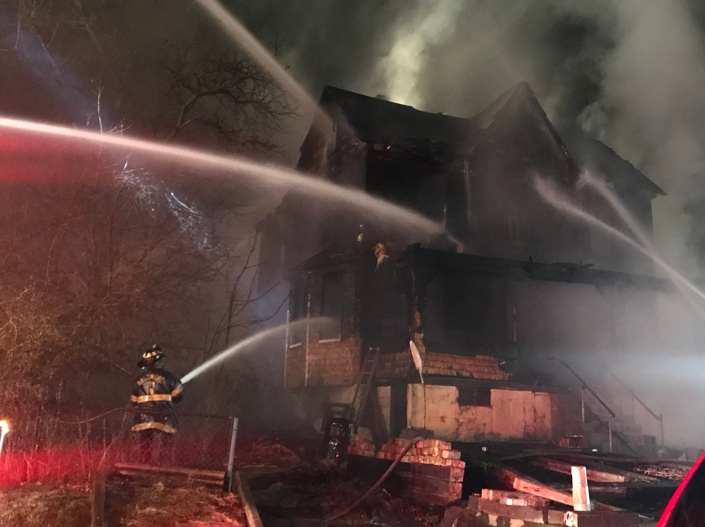 Large house fire reported in NE Baltimore (Courtesy: Baltimore City Fire Department)