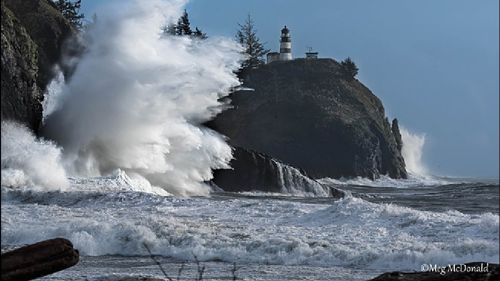 Photos: Huge waves crash into Cape Disappointment