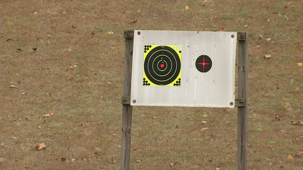 A stable and visible target is key to accurately sighting in your firearms. (WCHS/WVAH){ }