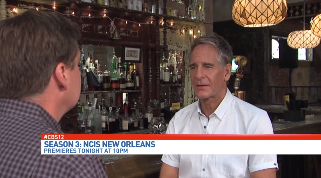 NCIS New Orleans star Scott Bakula talks with CBS12's Eric Roby