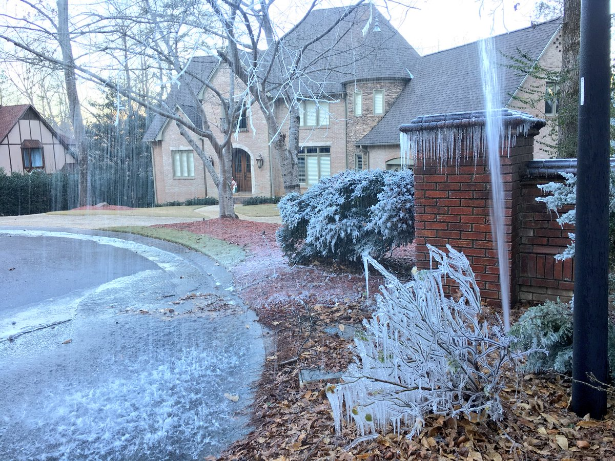 Water line break at Country Ridge Place in Vestavia Hills. (abc3340.com | Stephen Quinn)