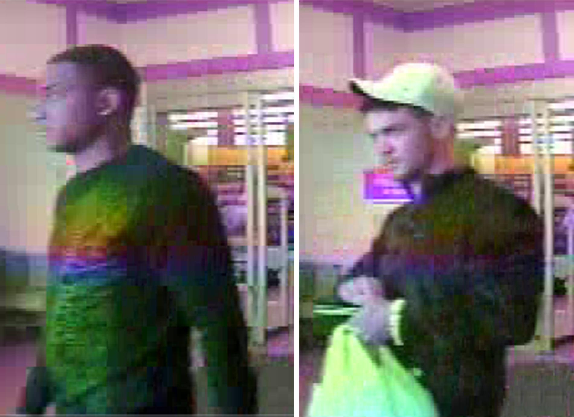 Tulsa police are trying to identify two men they believe used a stolen credit card number at a local business. (Tulsa Police Department)