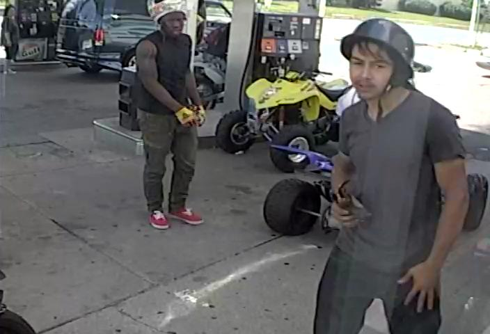 The Prince George's County Police Department released photos Friday of ATV riders who were caught on camera at National Harbor this past weekend with the hopes that the public can help identify the individuals. (Photo: Prince George's County police)