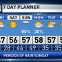The Weather Authority | Wet Weather Returns Before The Weekend Is Over