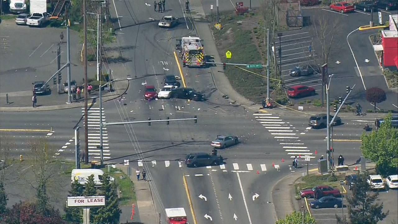 KOMO/Air 4 photo shows the crash scene