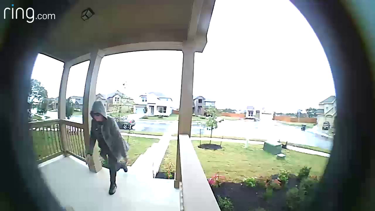 Recognize this person? Leander Police says they stole packages from a home on Connelly's Crossing. (Photos/video: Leander Police Department)