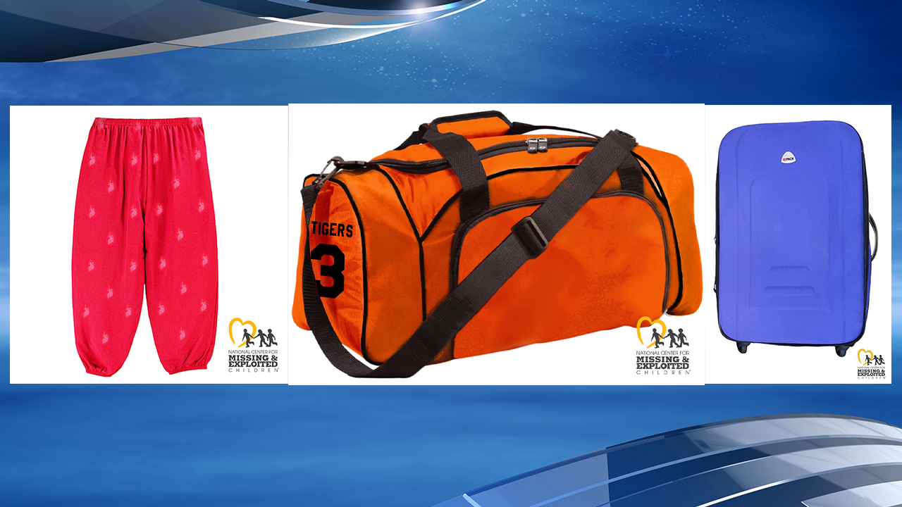 <p>Authorities say red Polo pants with an elastic waistband, a purple Hi-Pak suitcase, and an orange bag that has &quot;Tigers #3&quot; on it were found at the scene. (Photo courtesy: Cross County Sheriff's Office)</p>