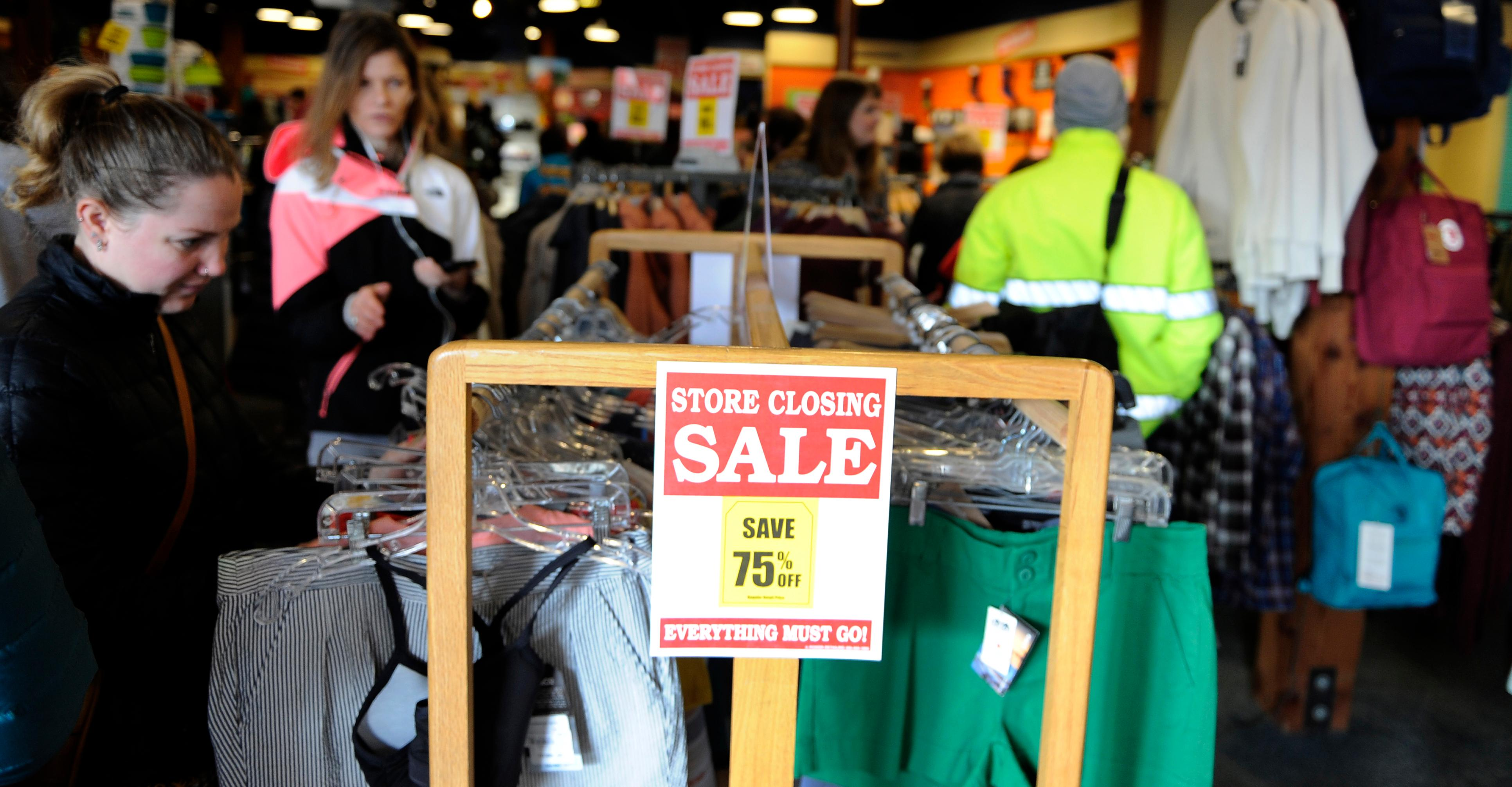 Andy Atkinson / Daily Tidings<br>Customers browse the Ashland Outdoor Store Wednesday morning for their liquidation sale.