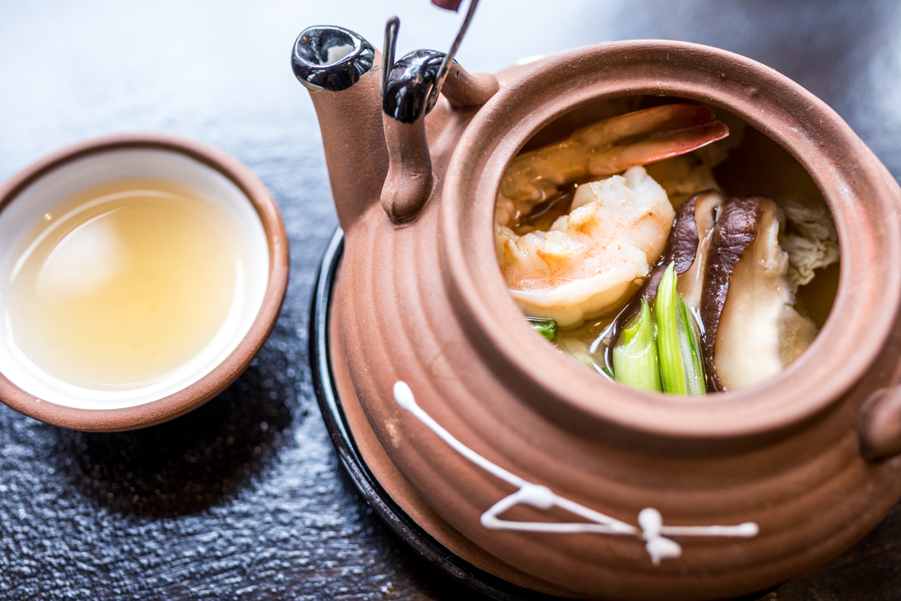 Dobin-Mushi: seafood & vegetables with broth steamed in a special clay pot / Image: Catherine Viox // Published: 1.3.21