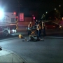 Man hit by car after walking into street