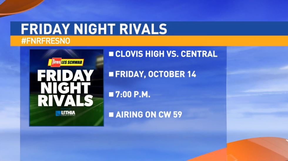 This week's matchup features #1 Clovis High Cougars taking on #2 Central High Grizzlies in Fresno.