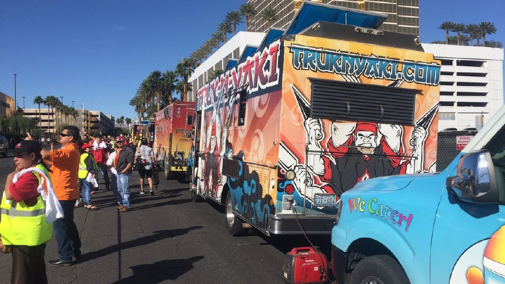 news local culinary union building wall taco trucks outside trumps vegas hotel
