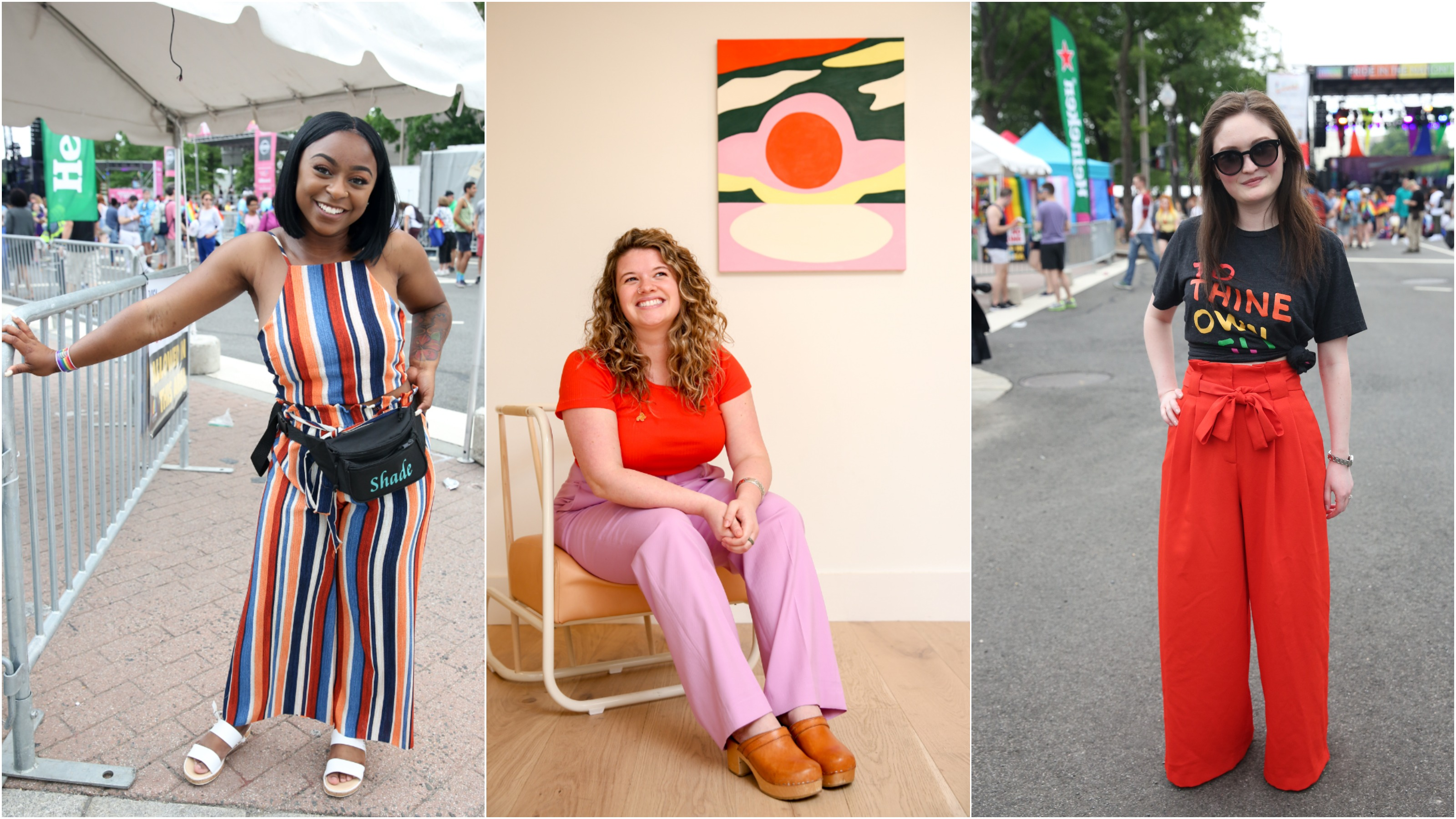 June was crushingly hot, rainy and humid, but Washingtonians stepped up their fashion game. From Pride to the women of The Wing, here are the most interesting looks we saw this month.{ }