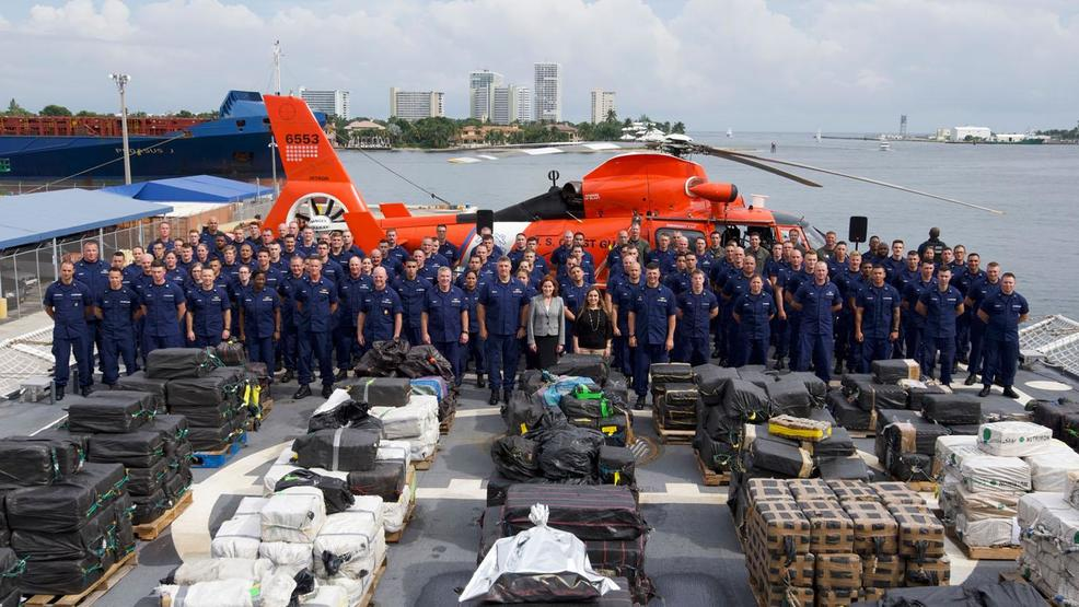 charleston coast guard cutter seizes 19 000 pounds of cocaine from
