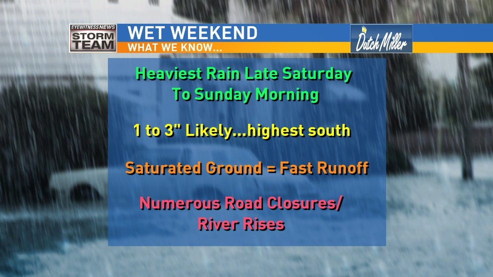 Widespread Flooding Likely Late Saturday Into Sunday