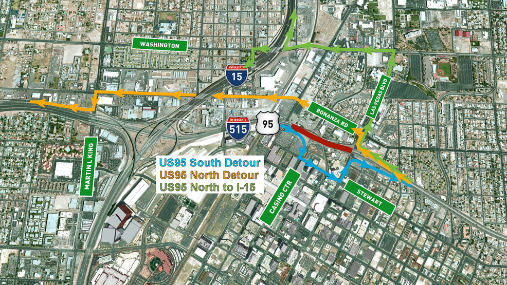 US Highway Full Closure In Both Directions June In Las - Us 95 south map
