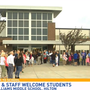 Staff, parents greet Hilton students on first day of school