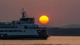 Photos: Smoky skies make for fiery sunsets around Puget Sound