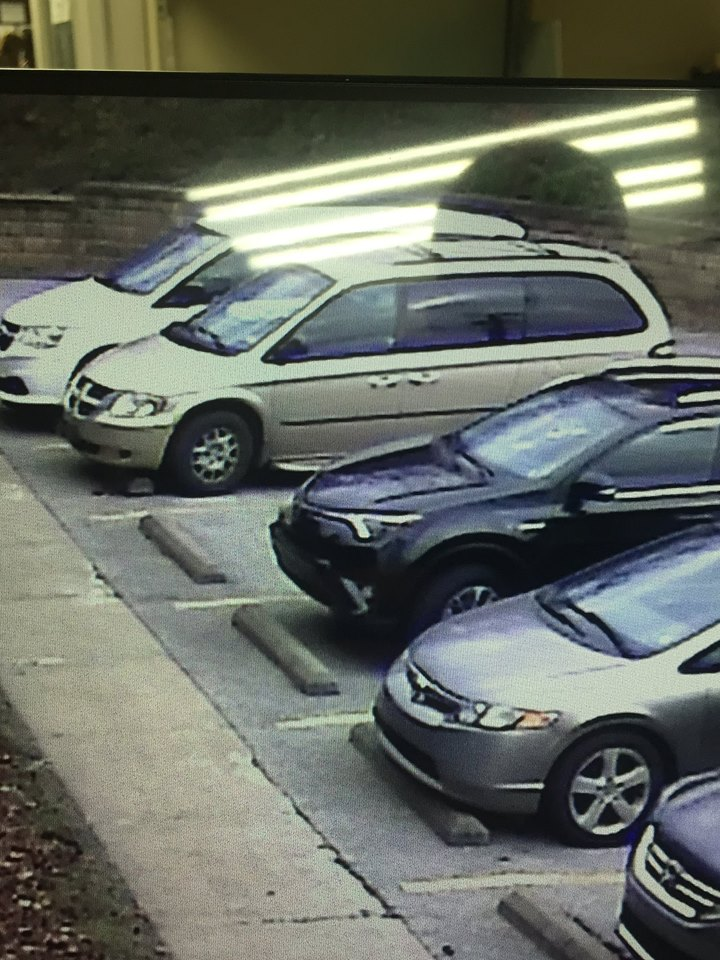 This image shows a gold minivan that deputies say the individual was driving Wednesday at the Putnam County Library. (Putnam County Sheriff's Office)<p></p>
