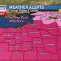 Freezing rain & winter weather ADVISORIES for Tuesday