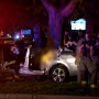 Two killed when suspected drunk driver loses control, slams into tree
