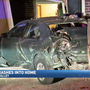 Driver hits parked car, then that car crashed into a Middle Valley home Saturday