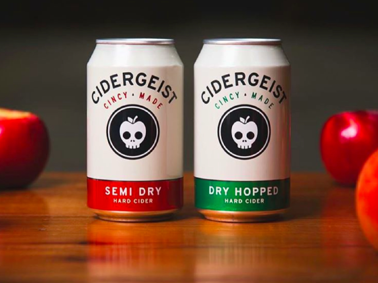 DRY HOPPED CIDER by Rhinegeist Brewery / Cider's day is finally here, and there isn't a better one than this one (on the left). Not as sweet as you might think, but every bit as delicious. / Image courtesy of Rhinegeist Brewery // Published: 1.10.17