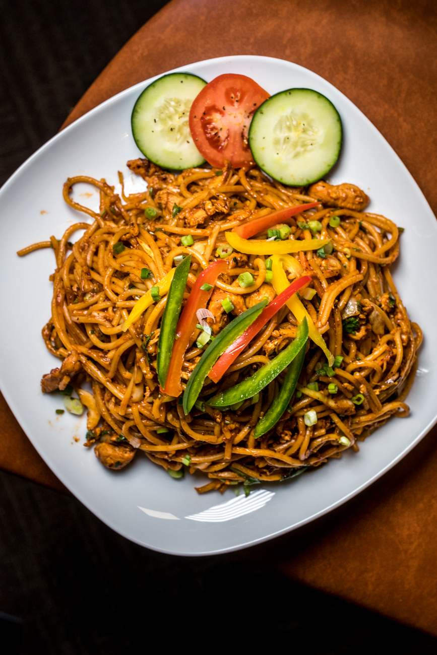 Chicken chow mein with hakka noodles / Image: Catherine Viox // Published: 2.6.20