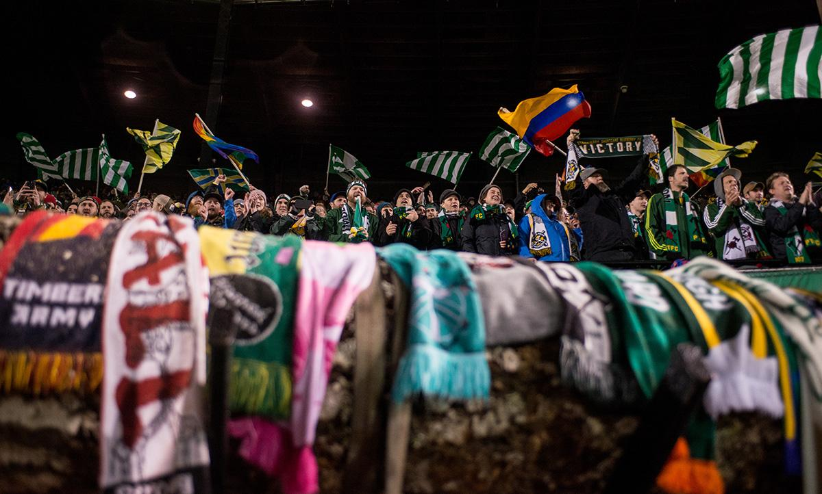 The Portland Timbers had a blowout 5-1 win Friday night at Providence Park in their season opener against Minnesota United, an expansion team making their MLS debut in Portland. The Timbers haven't lost an opener since they joined the MLS in 2011, with a 4-win, 3-draw record. (KATU photo on 3-3-2017 by Tristan Fortsch)