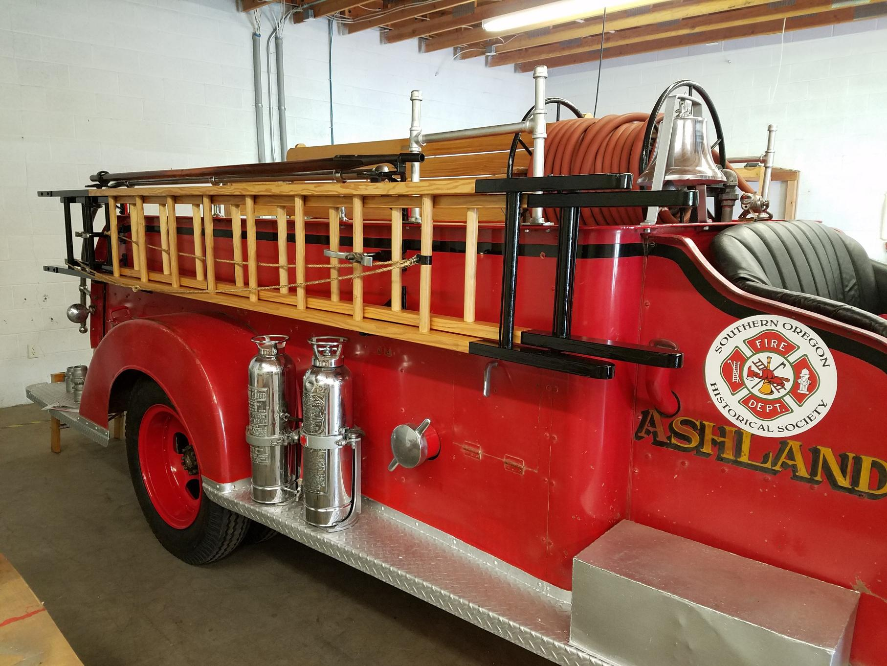 Ashland's 1946 Ford Fire Truck, now completely restored by Southern Oregon Historical Society volunteers. (Photo courtesy of SOHS)