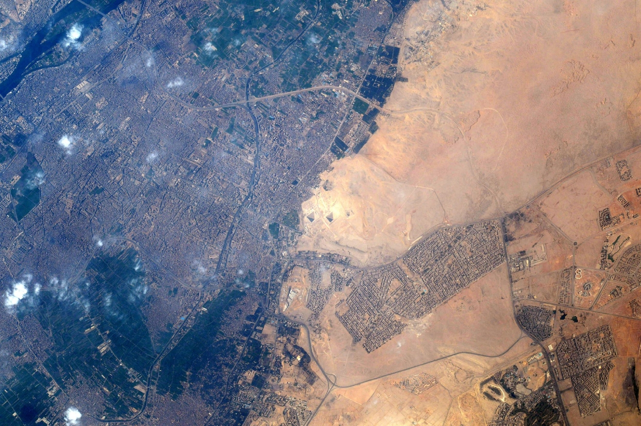 Finally! Snapped the Pyramids. (Photo & Caption: Thomas Pesquet // NASA)