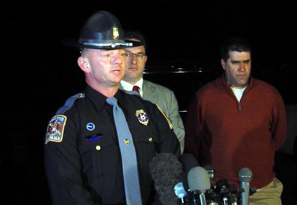 Trooper Kevin Cook of the Alabama Department of Public Safety provides an update on the hostage standoff in Midland City, Ala. on February 1, 2013.