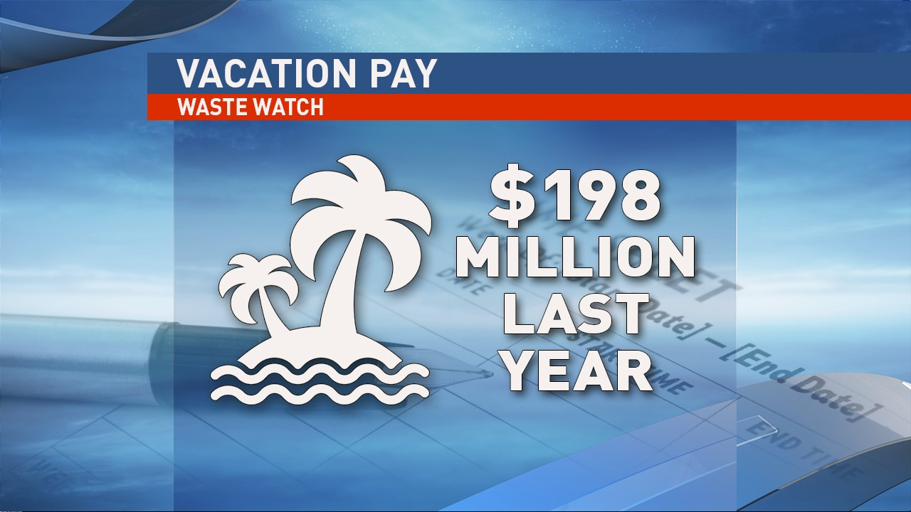 State employees were paid $198 million in vacation pay in 2016. (WSYX/WTTE)