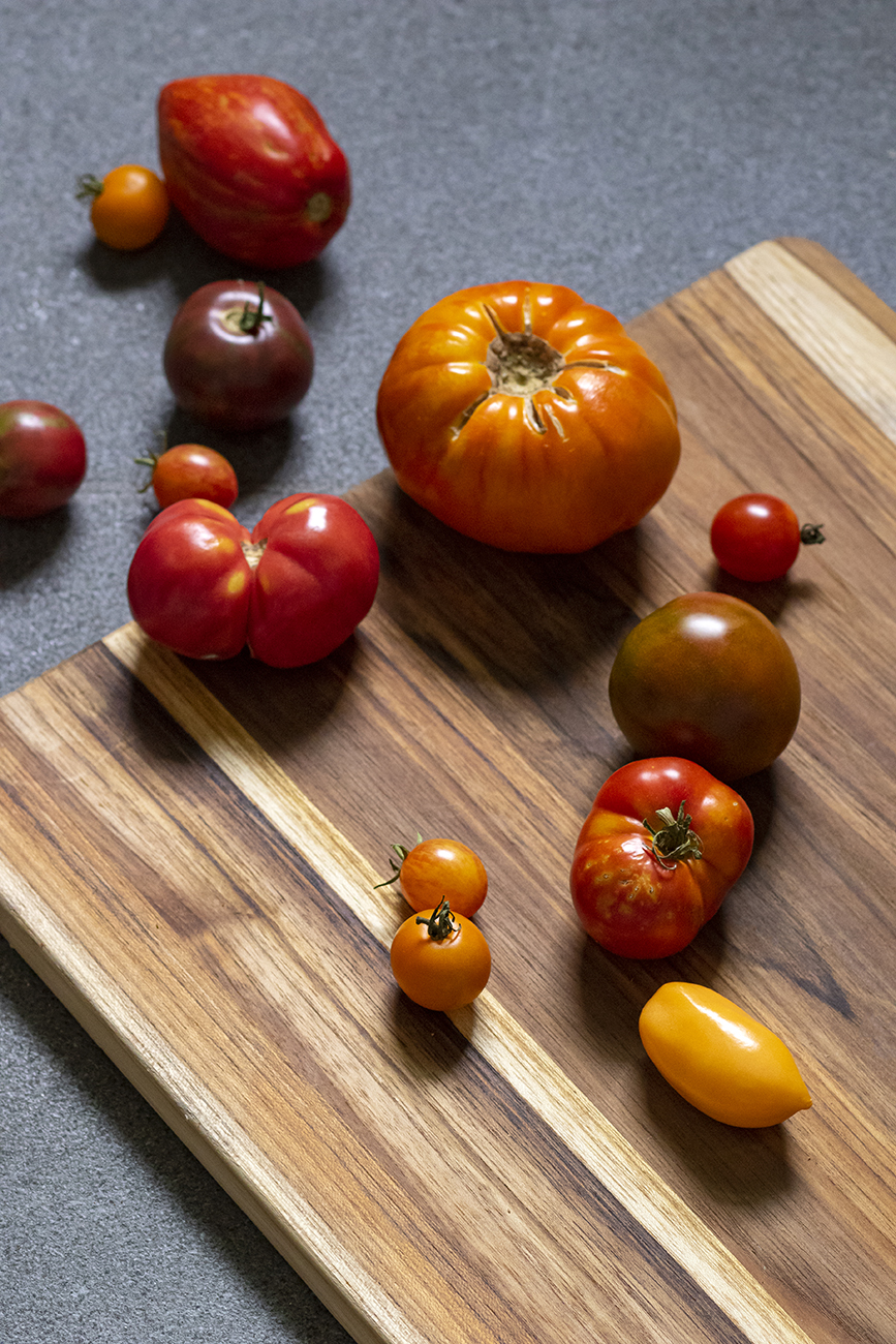 <p>Heirloom tomatoes—a summer staple ingredient! / Image: Allison McAdams // Published: 5.15.20  </p>