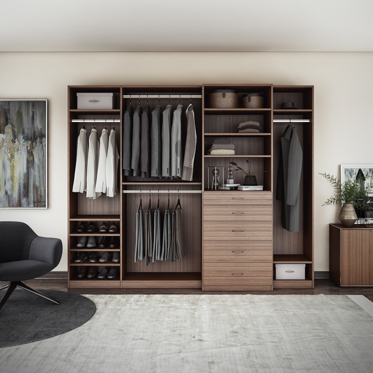 Your space is a reflection of your personality with the functionality and the aesthetics you value. Closets By Design understands this and distinguishes itself through a personalized approach to every project. They provide a truly collaborative effort between client and designer. Each designer meets with the client in their home and hand sketches the plan. Simple or elaborate, they're experts at helping each individual craft the space of their dreams all within their budget. / Image courtesy of Closets By Design // Published: 1.11.19