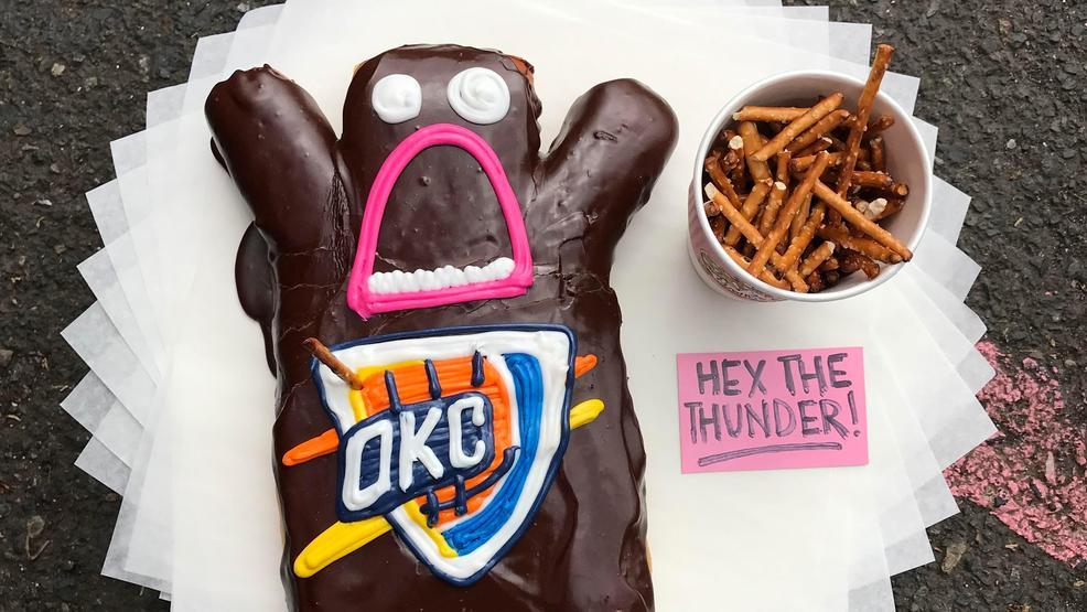 Voodoo Doughnut invites Trail Blazers fans to help put a 'hex' on OKC Thunder