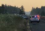 Two highway workers injured following hit-and-run crash on I-5 NB - Oregon State Police photo.jpg