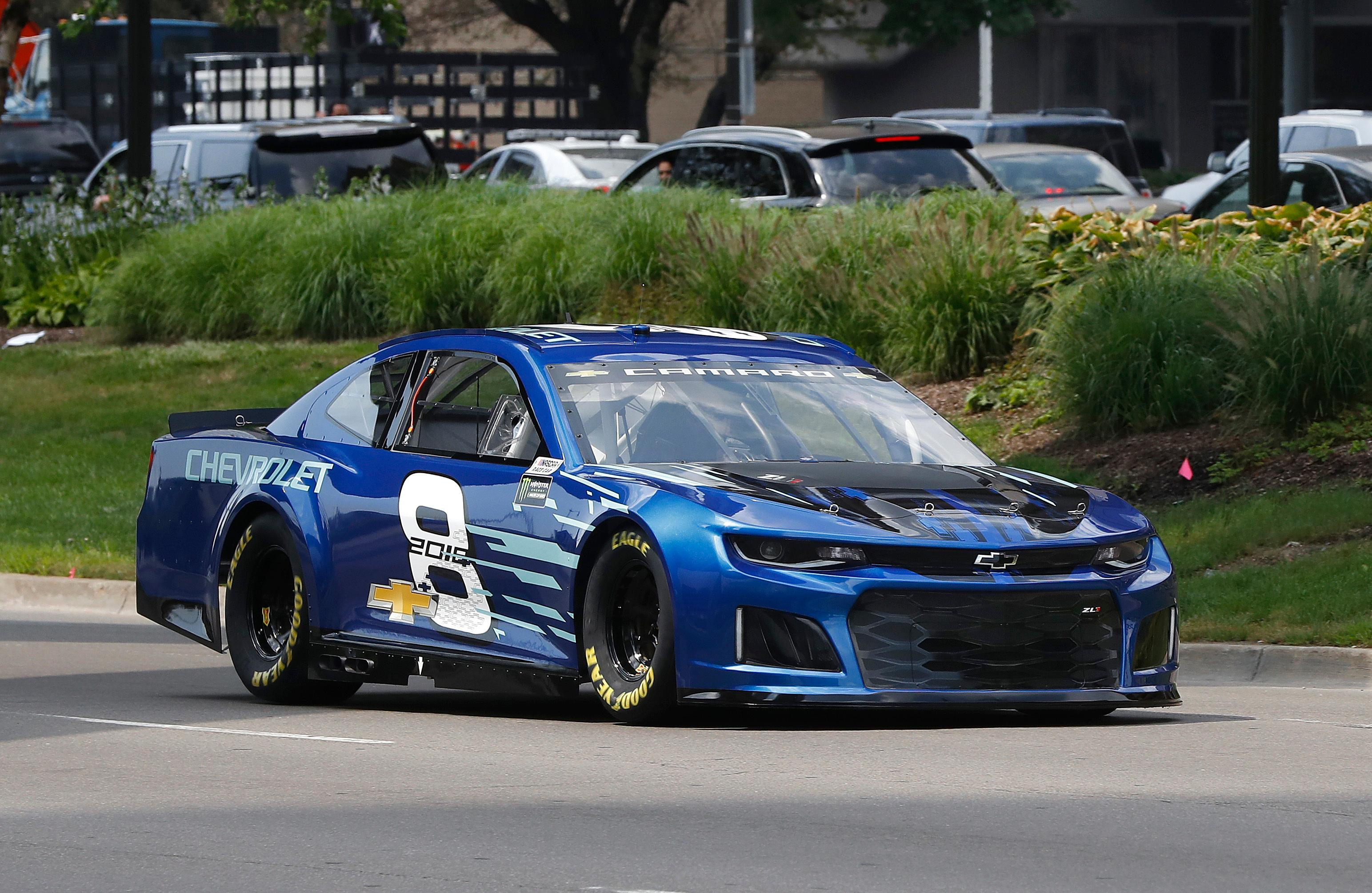 2018 chevrolet race car. exellent 2018 jimmie johnson drives the 2018 chevrolet camaro zl1 a new race car for  monster inside chevrolet 0