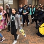 Anti-Trump protesters in Olympia, students walk out in Seattle