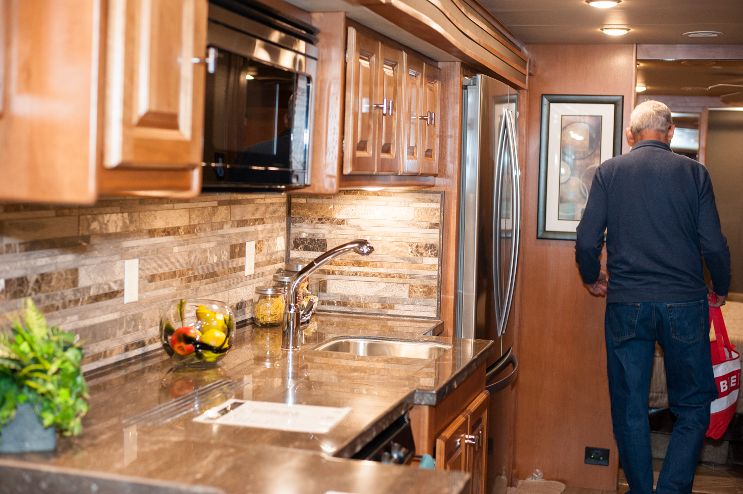 $281,147 - Poulsbo RV's 2019 Tiffin Allegro Red 37PA.{ } The Tacoma RV Show is happening this weekend (Jan. 17-20) at the Tacoma Dome, with hundreds of RV's on display and more than 100 brands at the show. Since we are Seattle 'Refined' - you know we had to check out the most expensive, swankiest vehicles at the show! (Image: Elizabeth Crook / Seattle Refined)