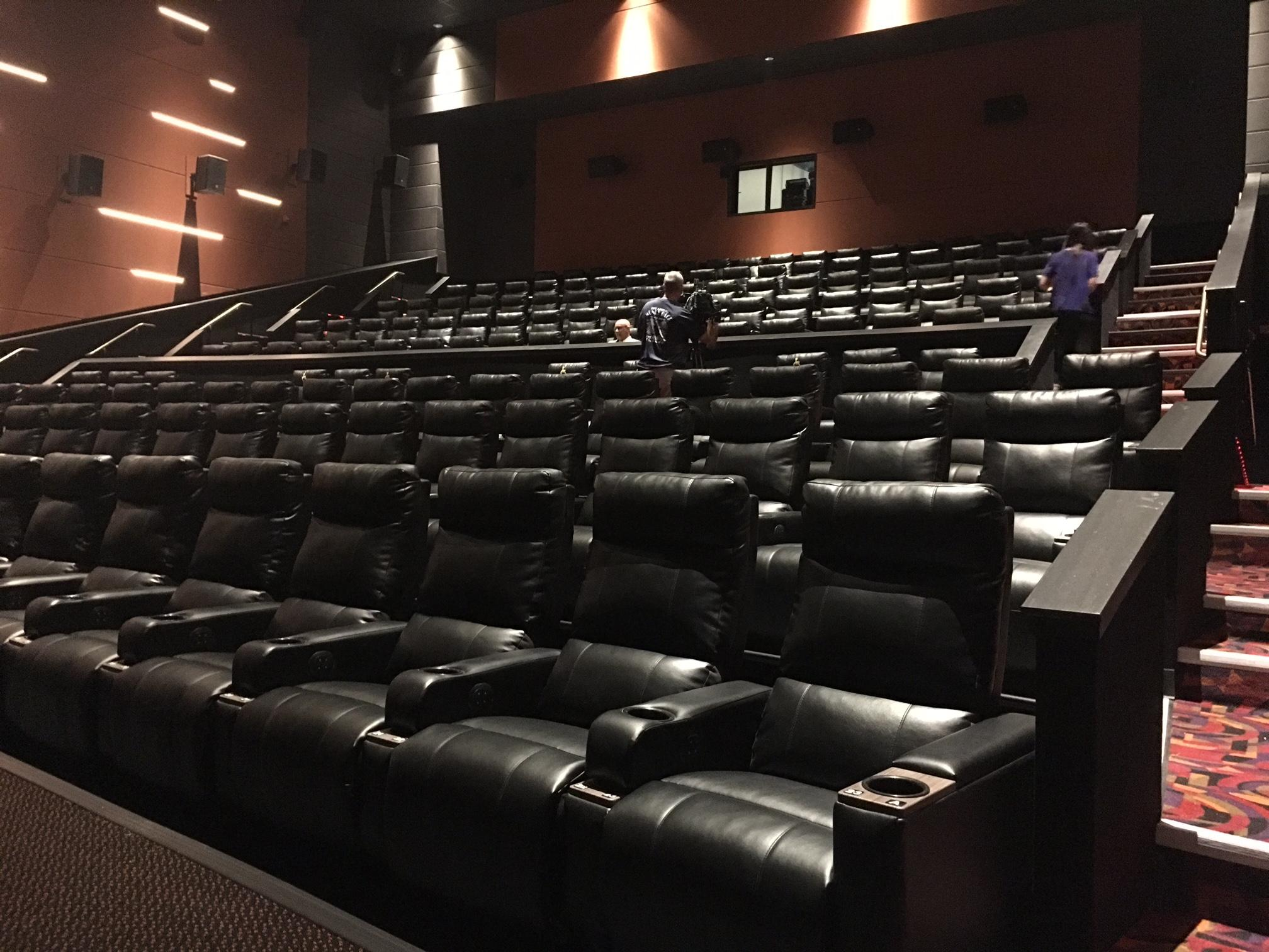 Photo by Mari Cockerell/KTXS News: The long-awaited, new state-of-the-art Cinemark theater will officially open Thursday in northeast Abilene.