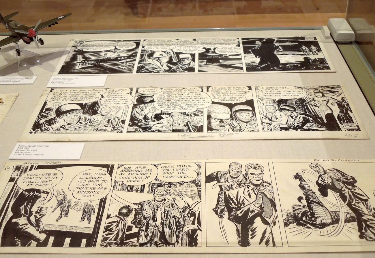 "A selection of 1940's comics by Milton Caniff. He was famous for the ""Terry and the Pirates"" and ""Steve Canyon"" comic strips. / Image courtesy of the Billy Ireland Cartoon Library & Museum{ }// Published: 7.1.19"