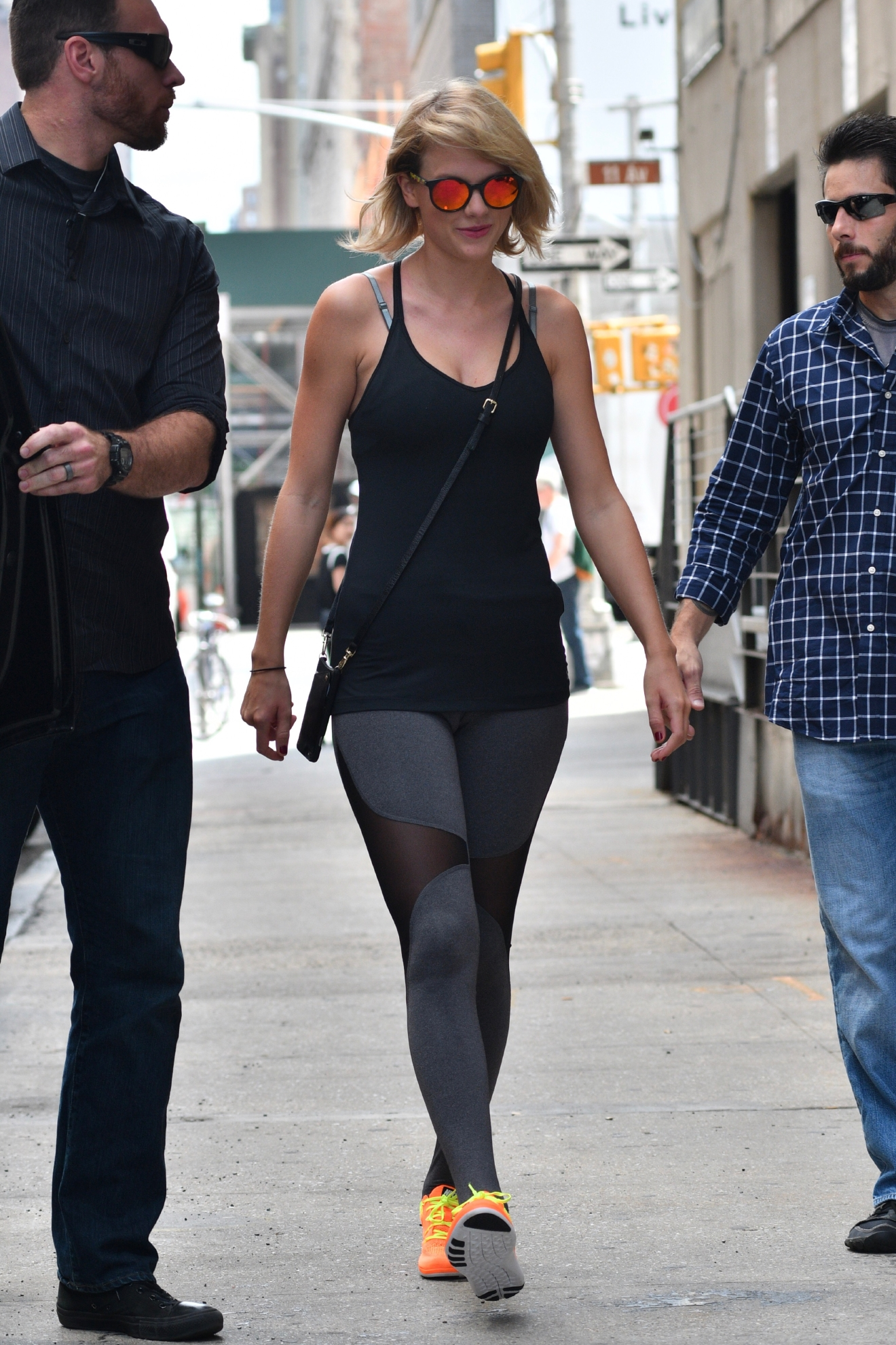Taylor Swift leaving her gym in New York on Aug. 26, 2016. (TNYF/WENN.com)