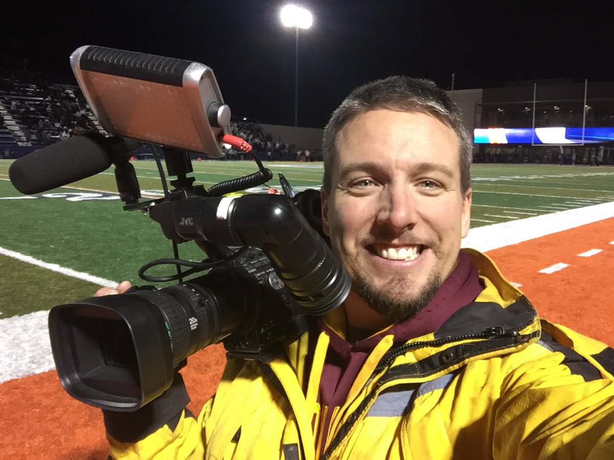 News 3 Photog Chad Graves managed to take a selfie, while shooting the Bishop Gorman vs. Faith Lutheran game. 11/18/16 (Chad Graves / KSNV)