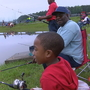 Children fish in the annual Kids Fishing Derby
