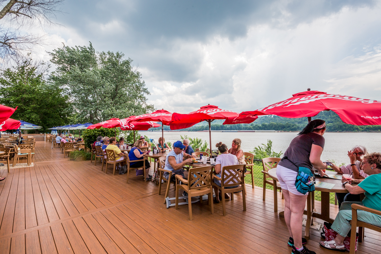 PLACE: Cabana on the River / ADDRESS: 7445 Forbes Road (Sayler Park) / The Cabana on the River is located on the westside of Cincinnati off of Route 50. The tropical getaway keeps the fun going with specialty frozen drinks, sand volleyball, and a big menu filled with everything from shrimp dishes, to white chicken chili. / Image: Catherine Viox // Published: 7.18.19