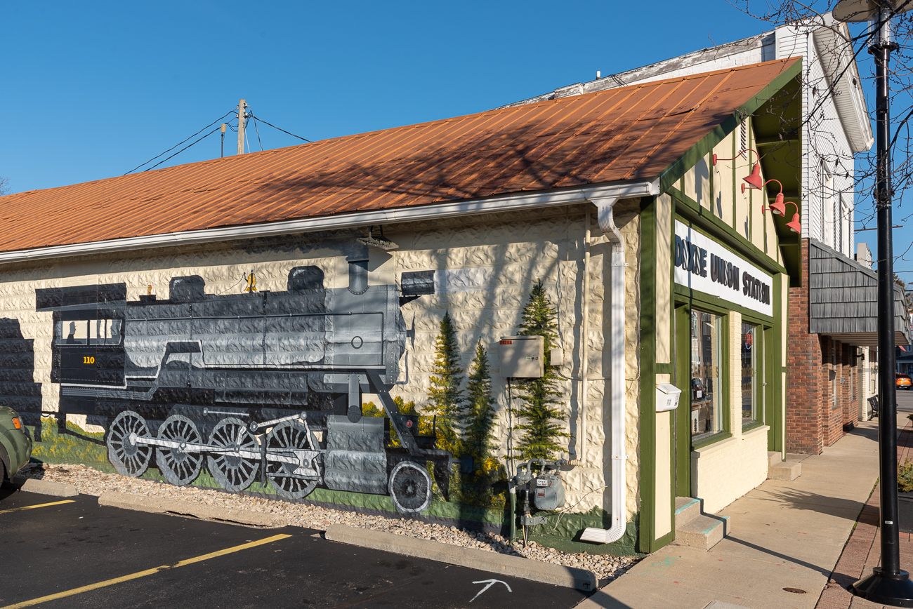 The first thing one notices upon walking up to the store is the massive mural on the side of the building. / Image: Phil Armstrong, Cincinnati Refined // Published: 2.27.20