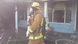 Bakersfield firefighters save dog from house fire