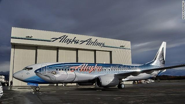 Known officially as the Salmon-Thirty-Salmon (it's a Boeing 737, get it?), the inspiration behind this livery was an incident in 1987 when an Alaska Airlines plane was hit by a fish as it was taking off in Juneau, Alaska.
